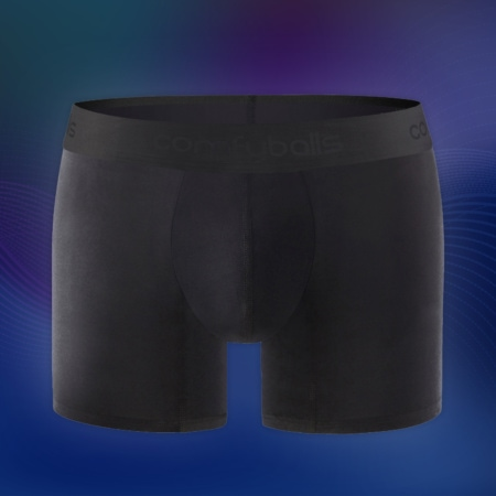 Comfyballs Ghost Black Cotton Raised Waist
