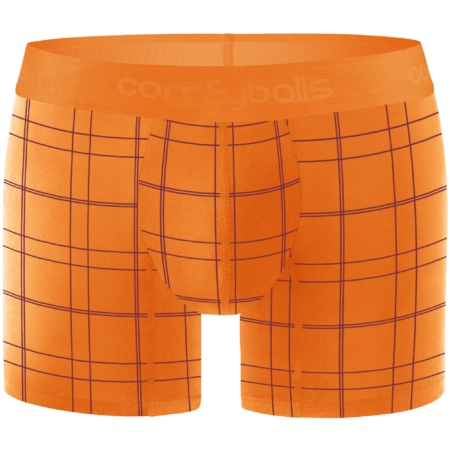 Comfyballs Ghost Flame Orange Checkered Cotton