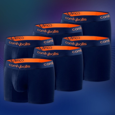 Cotton - 6 x Navy Tangerine